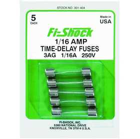 Fi-shock Inc 301-404 1/16 Ampere Time-Delay Fuses