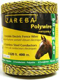 Zareba PW1320Y6-Z Electric Poly Wire 1,320 ft 6 Conductors