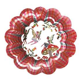 Iron Stop D6031-10 Designer 3-D Fairy Wind Spinner 10 in