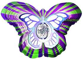 Iron Stop D7515-10 Designer Crystal Butterfly Wind Spinner 10 in