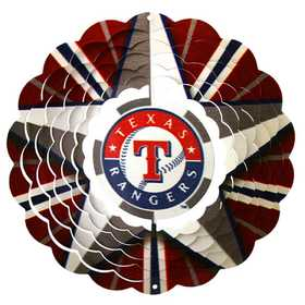 Iron Stop MLB160W-10 Texas Rangers™ 10 in Wind Spinner