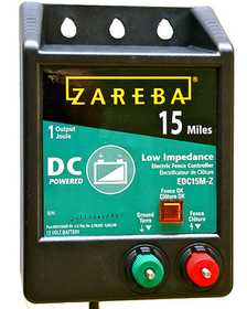 Zareba EDC15M-Z 15 Mile Battery Operated Low Impedance Charger