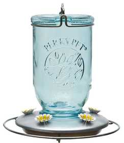 Perky Pet 785 Mason Jar Glass Hummingbird Feeder