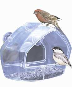 Perky Pet 348 Clear Window Mount Bird Feeder