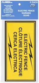 Fi-shock Inc A-12T Electric Fence Warning Signs 3 Pack