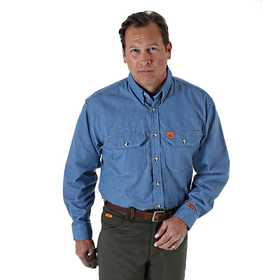 WRANGLER FR3W5DN Riggs Workwear Flame Resistant Work Shirt Xl