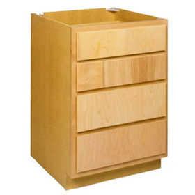 Zee Mfg DB24BH 24 in Unfinished Birch 4-Drawer Base Cabinet