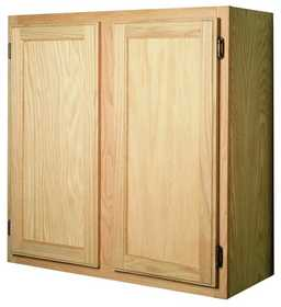 Zee Mfg W3330OA 33 in X 30 in Unfinished Oak Wall Cabinet