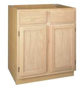 Zee Mfg SB33OA 33 in Unfinished Oak Sink Base Cabinet