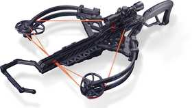 Bear Archery A6BRZBK125 Bruzer Ffl Crossbow 125 Lbs Black