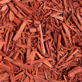 Sutherlands BULK Bulk Cedar Mulch Dyed Red Per Scoop