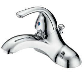 Flo Control Faucets F4510035CP 1-Handle Chrome Lavatory Faucet With Abs Popup Drain