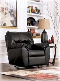 Signature Design By Ashley 9420025 DuraBlend Rocker Recliner In Onyx