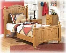 Signature Design By Ashley B233-51 Stages - Light Brown Twin Poster Footboard