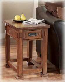 Signature Design By Ashley T419-3 Cross Island Rectangular End Table