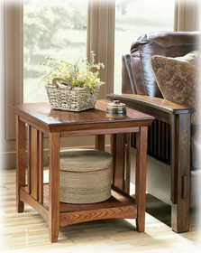 Signature Design By Ashley T545-3 Prairie View Rectangular End Table