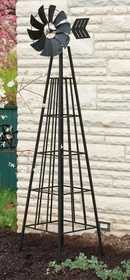 Panacea 88840 Windmill Obelisk Black 72 in