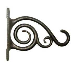 Panacea 85635D Plant Bracket With Scroll Brushed Bronze 6 in