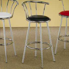Coaster 2244 Cleveland Chrome Plated Bar Stool With Upholstered Seat