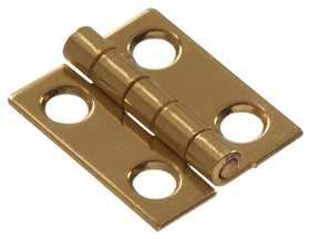 Hillman 851186 1 in Solid Brass/Bright Brass Narrow Hinge