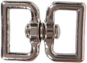 Hillman 321542 Nickel Plated Double Strap Swivel Eyes