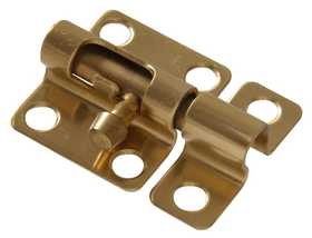 Hillman 852248 Mini Barrel Bolt 2 in Solid Brass/Bright Brass