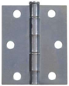 Hillman 851940 Storm & Screen Door Hinges Square Corner - Full Surface - Removable Pin