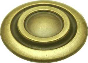 Hickory Hardware P121-AB 1-3/8-Inch Diameter Antique Brass Cavalier Cabinet Knob