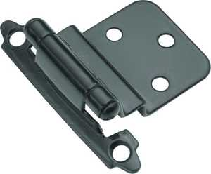 Hickory Hardware P143-BL 3/8-Inch Black Surface Self-Closing Inset Hinge 2-Pack