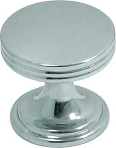 Hickory Hardware P2140-CH 1-Inch Chrome American Diner Cabinet Knob