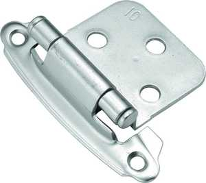 Hickory Hardware P244-CLX Chromolux Surface Self-Closing Flush Hinge 2-Pack