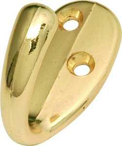 Hickory Hardware P27100-PB Single Polished Brass Utility Coat Hook