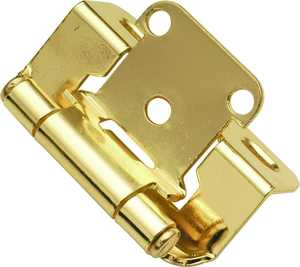 Hickory Hardware P2710F-3 1/2-Inch Overlay Polished Brass Self-Closing Cabinet Hinge