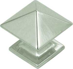 Hickory Hardware P3014-14 1-Inch Polished Nickel Square Studio Collection Cabinet Knob