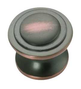 Hickory Hardware P3102-OBH 1-1/16-Inch Oil-Rubbed Bronze Highlight Deco Cabinet Knob