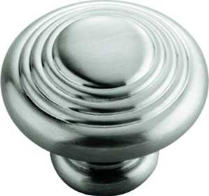 Hickory Hardware P3103-SN 1-1/4-Inch Satin Nickel Deco Cabinet Knob