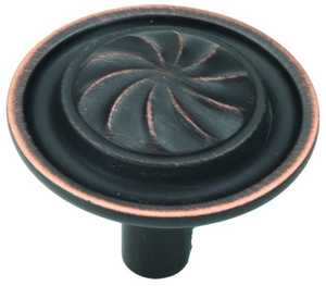 Hickory Hardware P3461-VB 1-1/4-Inch Vintage Bronze Roma Cabinet Knob