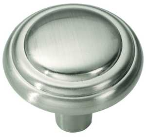 Hickory Hardware P3464-SN 1-1/8-Inch Satin Nickel Bel Aire Cabinet Knob