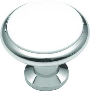 Hickory Hardware P427-26W 1-3/8-Inch White Tranquility Cabinet Knob