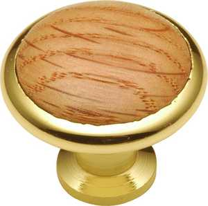 Hickory Hardware P427-OAK 1-3/8-Inch Diameter Woodgrain Oak Cabinet Knob Insert