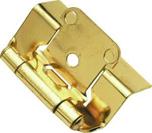 Hickory Hardware P5710F-3 Polished Brass Semi-Concealed Full Wrap Hinge 2-Pack