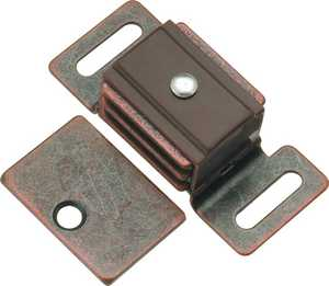 Hickory Hardware P651-STB 1-7/8-Inch Statuary Bronze Double Magnetic Catch