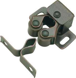Hickory Hardware P657-STB 1-Inch Statuary Bronze Double Roller Catch