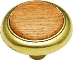 Hickory Hardware P706-OAK 1-1/4-Inch Diameter Oak Woodgrain Kitchen Cabinet Knob