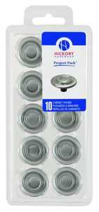 Hickory Hardware VP121-SN 1-1/4-Inch Satin Nickel Cavalier Cabinet Knob 10-Pack