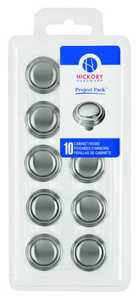 Hickory Hardware VP3464-SN 1-1/8-Inch Satin Nickel Bel Aire Cabinet Knob 10-Pack