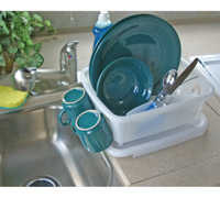Camco 43511 Mini Dish Drainer, White