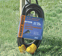 Camco 55191 Extension Cord 30 AMP with handles 25 ft
