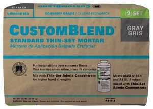 Custom Building Products CBTSG50 50-Pound Gray CustomBlend Tile Set Mortar