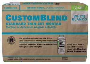 Custom Building Products CBTSW50 Tile Set Mortar CustomBlend White 50lb